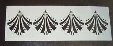 Art deco FAN Gatsby design Cake craft decorating stencil Polyester Film