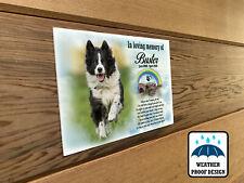 Pet dog memorial plaque, Graveside photo plaque, Personalised dog photo plaque.
