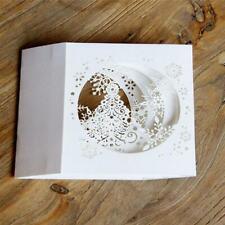 Card Cut Hollow Snowflake Handmade Tree Greeting Cards Merry Christmas Y3