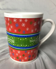 Bless This Home Christmas Mug Cup Coffee Holidays Winter Green & Red