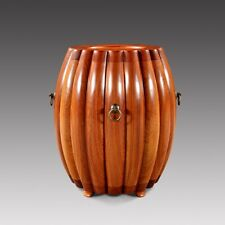 Ming Dy STL HandMade Drum Stool Melon Stool Zen Seat Aged rosewood wood #1110