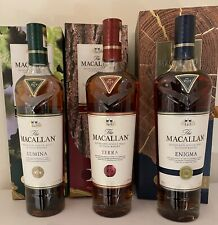 3 bottle  The Macallan Enigma Terra  Lumina 700ml  Single Malt Scotch Whisky,