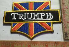 Vintage Triumph logo patch old British motorcycle collectible biker memorabilia