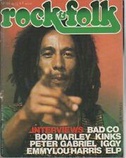 """ROCK & FOLK n°124 mai 1977"" Bob MARLEY (Photo Laurens VAN HOUTEN)"
