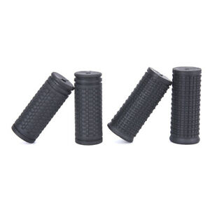 2pcs Bicycle Grips Short Handle Rubber Non Slip Cycling Scooter Bike Parts f AJ