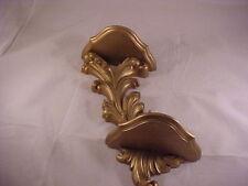 1975 Dart Homco Gold Florentine Double Plate Wall Shelf