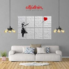 POSTER GIGANTE Banksy Balloon Girl (Palloncino) 131x91 cm Stampa FINE ART Wall