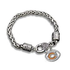 Chicago Bears Football Charm Dangle Women's Fashion Clasp Bracelet