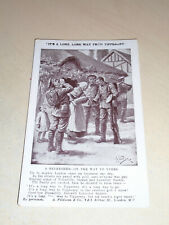 EARLY WW1 ART POSTCARD - LONG WAY FROM TIPPERARY - REFRESHER ON THE WAY TO YPRES