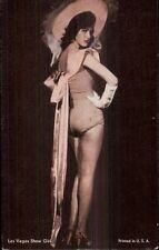 Sexy Las Vegas Showgirl Pin Up Hi Heels Gloves & Hat  Arcade Exhibit Card
