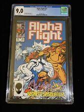 Marvel Alpha Flight #23 CGC 9.0 White pages, John Bryne, 3004