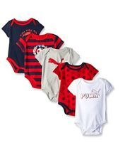 PUMA Baby Boys 5 Pack Bodysuits 6/9 Month New with tag