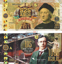 Colombia, 525 years, Columbus, Titanic, 500-1000 Aguilas 2017, Specimen, Private