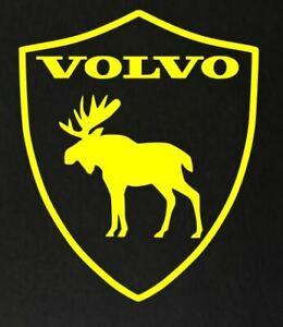 4 x CUSTOM VOLVO MOOSE SHIELD CAR DECAL STICKERS FREE P&P SAME DAY DISPATCH L@@K