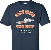 USCGC CHASE  WHEC-718 *COAST GUARD  VINYL PRINT SHIRT/SWEAT