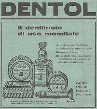 W4323 DENTOL il dentifricio di uso mondiale - Pubblicità del 1930 - Vintage ad
