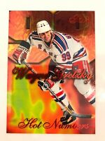 WAYNE GRETZKY 1996-97 FLAIR HOT NUMBERS Insert Card # 4 New York Rangers