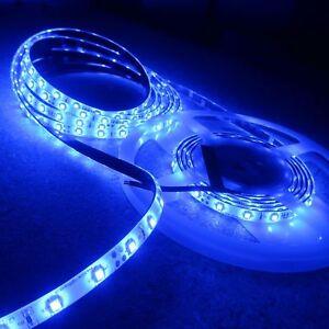 Blue LED Strip 24V 4.8W/mIP65-8mm wide-5m roll-SMD3528