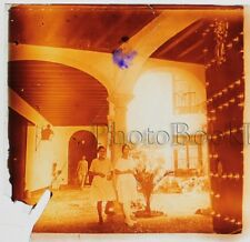 Espagne Cordoba Patio Plaque de verre stéréo 45x107mm Vintage ca 1920