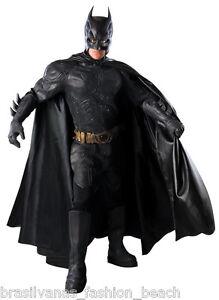 BATMAN Grand Heritage Costume Dark Knight Collector Adult Cosplay Fancy Suit, M