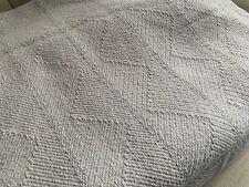 Kensington Cotton Grey Throw Blanket Pair of throws