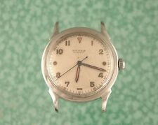 Juvenia watch automatic 1940s military style serviced bumper/hammer lot w309