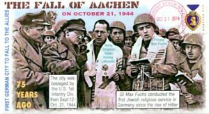 COVERSCAPE computer designed 75th Fall of Aachen WWII event Cover
