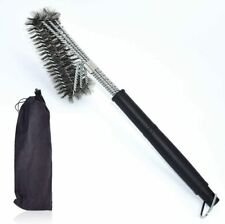 """VEICA BBQ Grill Brush Stainless Steel 18"""" Barbecue Cleaning Brush w/Wire Bristle"""