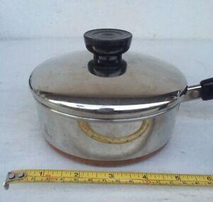 REVERE WARE CLINTON, IL USA Stainless Steel 3/4 Qt Saucepan w/Lid