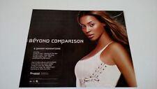 "Beyonce "" Crazy In Love "" (2003) Rare Original Print Promo Poster Ad"