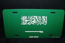 SAUDI ARABIA FLAG METAL NOVELTY LICENSE PLATE TAG FOR CARS