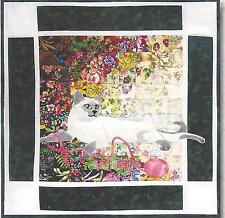 Kitty Tonkinese watercolor quilt kit Whims Watercolor