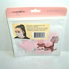 Kids Reusable Polyester Facial Mask for Youths Only New & Sealed in Package Pink