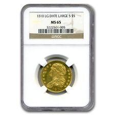 1810 $5 Turban Head Gold Half Eagle Lg Date, Lg 5 MS-65 NGC