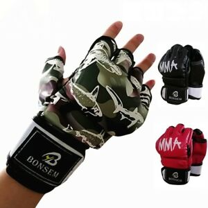 Sparring Gloves Muay Thai Boxing Training Mitts Punching Grappling Kickboxing