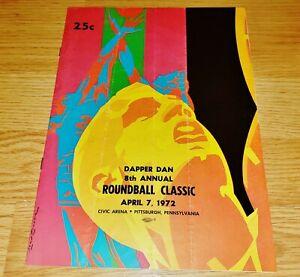 Rare April 7, 1972 Dapper Dan 8th Annual Roundball Classic Program, Pittsburgh