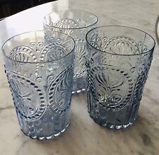 Anthropologie Fleur De Lys Glassware Lotof 3
