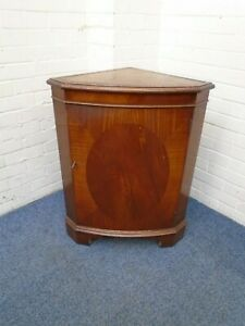 Mahogany Veneer Corner Cupboard
