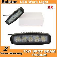 """2X 6"""" inch 15W LED Work Light Bar Spot Boat SUV ATV UTE Truck Fog Driving Light"""