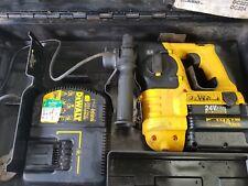 Dewalt Dc233Ka 24 Volt Drill 2.0 Ah Battery Cordless Sds Plus Hammer Drill