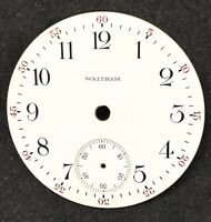 Antique Waltham 16s Pocket Watch Dial, Single Sunk Shaved center, || 22005