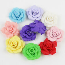 Wholesale 10pcs/lot Mixed 40mm Big Large Polymer Fimo Clay Flower beads No Hole