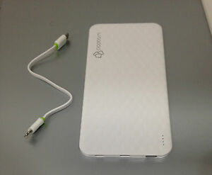 White Popcorn Power Bank 4600mah ultra slim stylish design (Portable Charger)