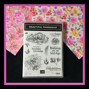 Stampin Up!  BEAUTIFUL FRIENDSHIP Stamp Set & FLOWERS FOR EVERY SEASON DSP