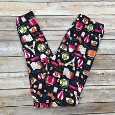 Pink, Green, Tan, Blue Travel Women's Leggings One Size OS 2-12 Super Soft