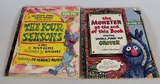 2 Little Golden Book Sesame Street Four Seasons & Monster at the End of Book