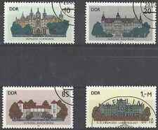 Timbres Chateaux RDA Allemagne 2653/6 o lot 19504