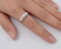 USA Seller Five Freshwater Pearl Ring Sterling Silver 925 Best Jewelry Size 6