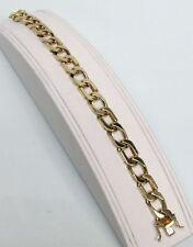 "Men'S Italian Link 7 1/2"" Bracelet Large 14K Solid Gold 46.3 Gram"