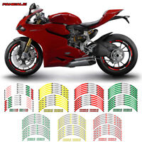 "MOTORCYCLE RIM ""17 STRIPES WHEEL DECALS STICKERS FOR DUCATI PANIGALE"